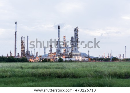 Oil refinery plant at morning