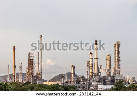 Oil Refinery plant Industry in field at Chonburi Thailand
