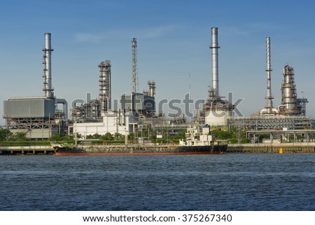 Oil refinery plant on daylight shot.