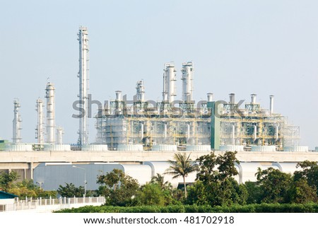 Oil Refinery plant with Power generator