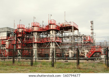 oil refining factory