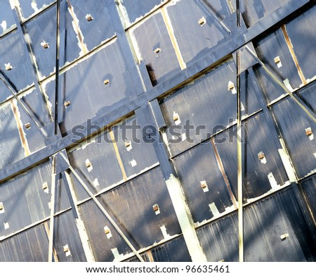Oil reservoir wall construction. - stock photo