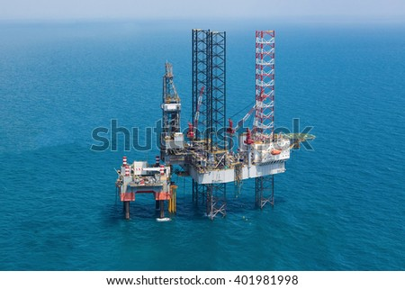 Oil rig in the gulf.