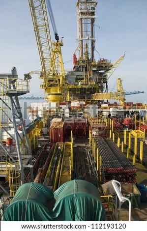 Oil Rig Platform - stock photo