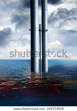 oil slick - stock photo