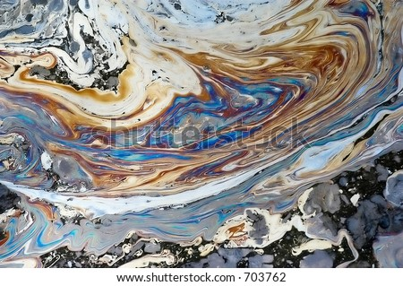 Oil Slick #2 - stock photo