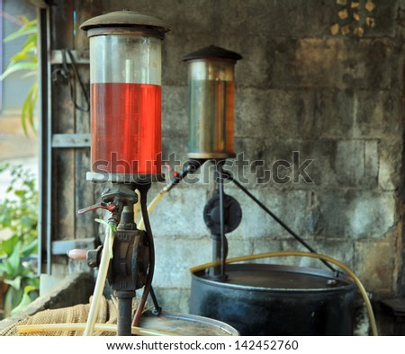 Oil station - stock photo