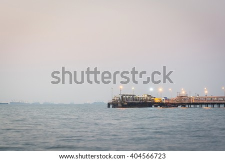Oil station transportation in the sea