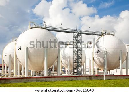 Oil storage photo - stock photo