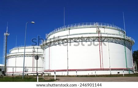 Oil Storage Tank  - stock photo