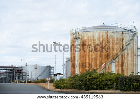 Oil tank in factory
