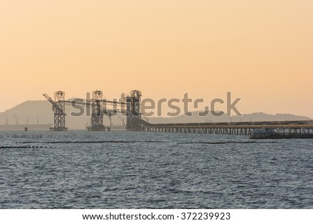 Oil tanker, Gas tanker and Crane Container Ship