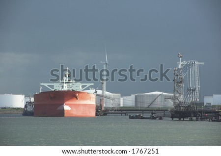 oil tanker in harbor
