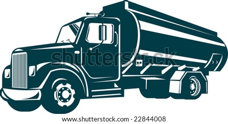 Oil Tanker truck - stock photo