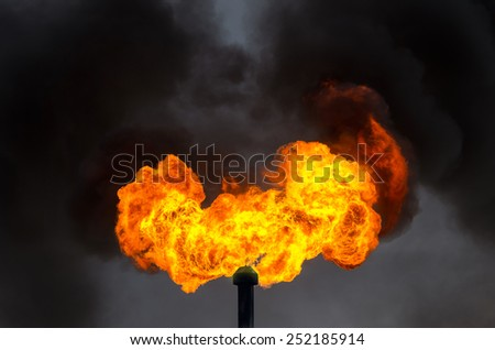 Oil Torch - stock photo