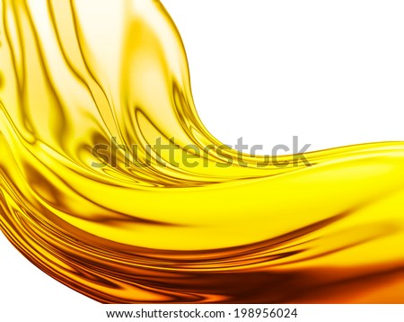 Oil Wave on a white background - stock photo