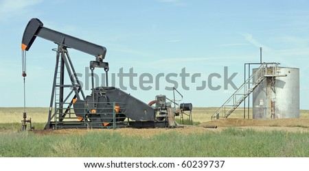 OIl well and tank