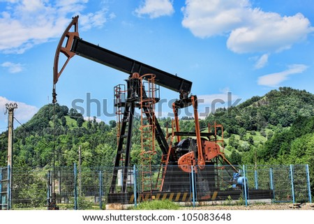 oil well pump - stock photo