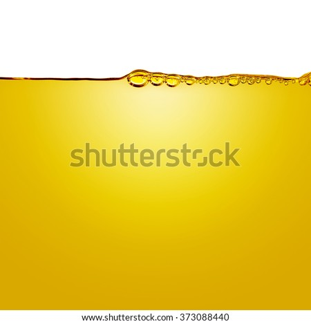 Oil with air bubbles at the white background - stock photo