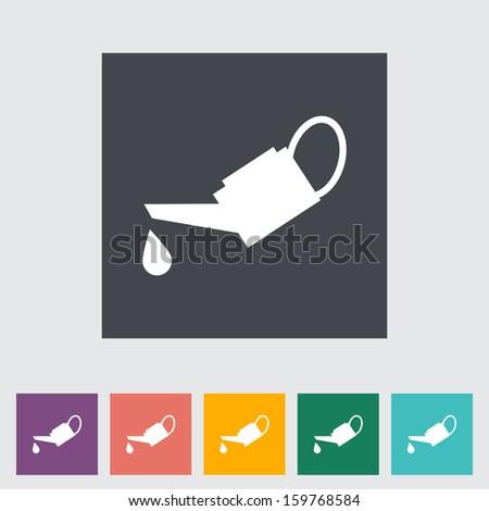 Oiler single flat icon.  - stock photo