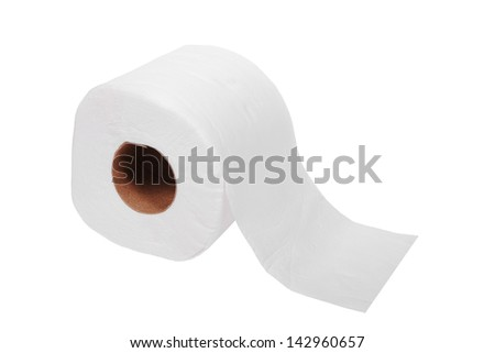 oilet paper on white background