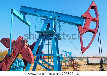 Oilfield - stock photo