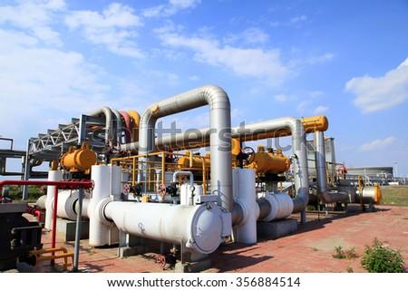 oilfield equipment  - stock photo