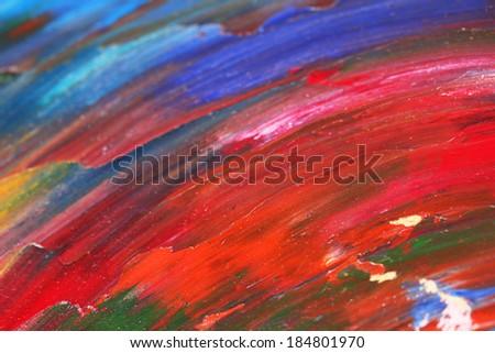 Oily paint brushstrokes close-up - stock photo