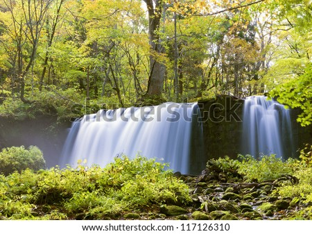 Oirase River at Aomori Japan - stock photo