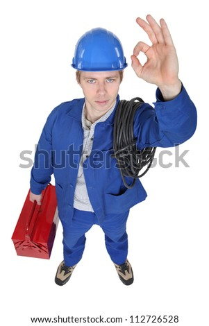 OK from an electrician - stock photo