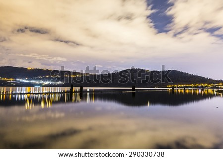 Okanagan Lake and City Lights of Kelowna