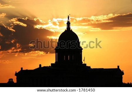 Oklahoma Capital - stock photo