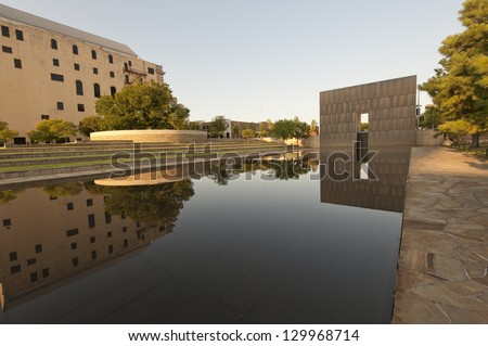 Oklahoma City Memorial - stock photo