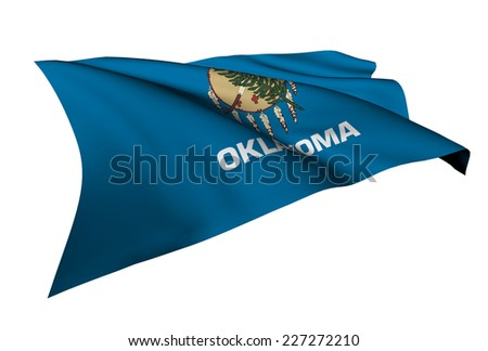 Oklahoma flag - USA state flags collection no_4  - stock photo