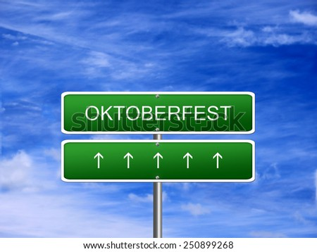 Oktoberfest day background banner sign. - stock photo