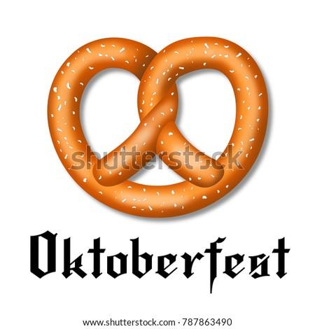 oktoberfest illustration pretzel stock illustration 787863490