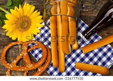 Oktoberfest,  table decoration - stock photo