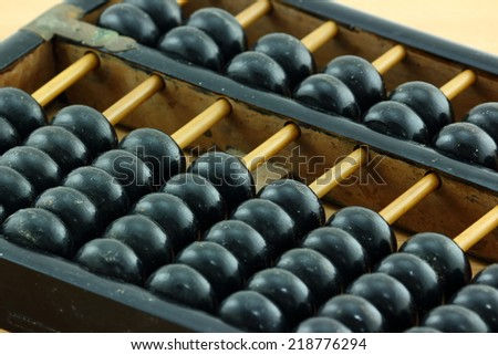 Old abacus calculator - stock photo
