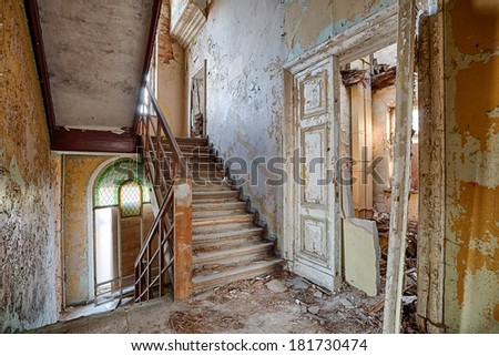 Old, abandoned and forgotten building - stock photo