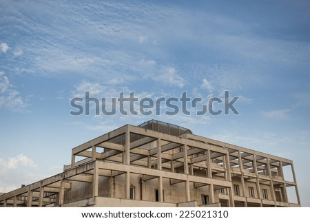 old abandoned building in Italy  - stock photo