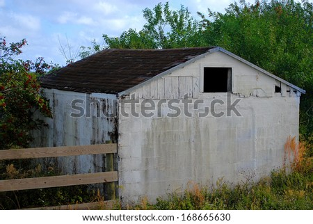 Old abandoned building in rural area