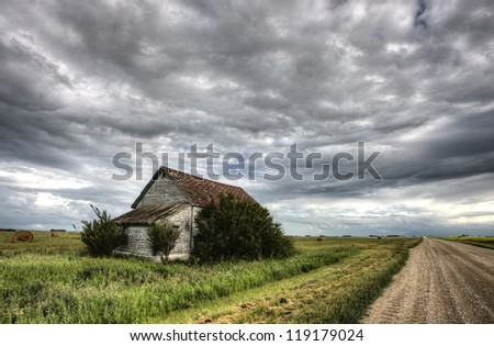 Old Abandoned Building in Saskatchewan Canada rural