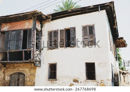 Old abandoned building ruins.  