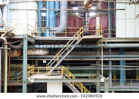 Old abandoned factory - stock photo