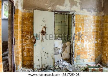 Old abandoned ruin - stock photo