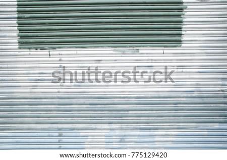 Old Abandoned Urban Garage Door Spray Stock Photo Edit Now