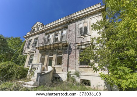 Old abandoned villa - stock photo