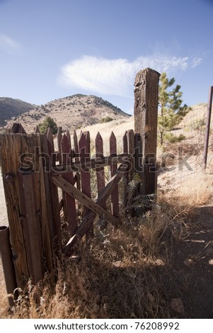 Old abandoned western gold rush cemetery