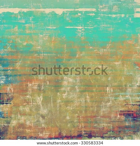 Old abstract grunge background for creative designed textures. With different color patterns: yellow (beige); brown; blue; green - stock photo