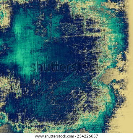 Old abstract grunge background for creative designed textures. With different color patterns: blue; yellow